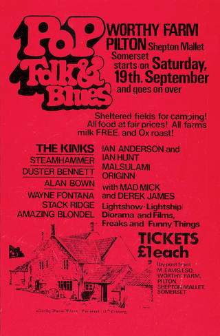 Glastonbury poster, 1970. © Glastonbury Festivals Ltd