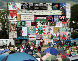 Glasto banners