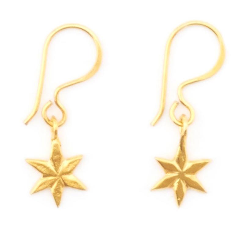 Gold Star Hook Earrings by Mirabelle