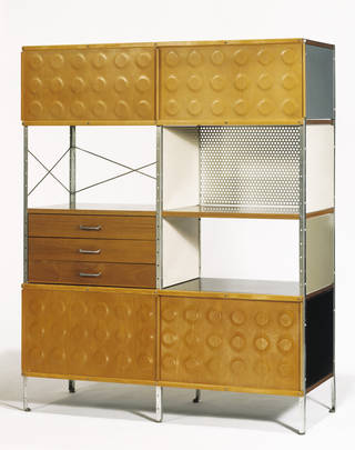 Photo of ESU 421-C Storage Unit, designed by Charles & Ray Eames for Herman Miller Furniture Co., 1949 – 52, USA. Museum no. W.5-1991. © Victoria and Albert Museum, London