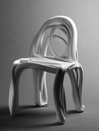 Photo of Sketch Chair, designed by Front, Sweden and printed by Alphaform, 2005, Finland. Museum no. W.10-2014. © Victoria and Albert Museum, London/Front, Stockholm