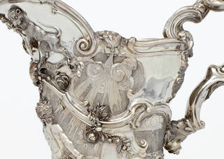 Photo of Silver ewer (detail), marked Paul de Lamerie, 1742 – 3, London. Museum no. Loan: Gilbert.721:1-2008. © The Rosalinde and Arthur Gilbert Collection on loan to the Victoria and Albert Museum, London
