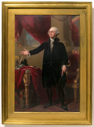 Photo of Enamel miniature of George Washington, Henry Pierce Bone, 1825, England. Museum no. Loan:Gilbert.230-2008. © The Rosalinde and Arthur Gilbert Collection on loan to the Victoria and Albert Museum, London