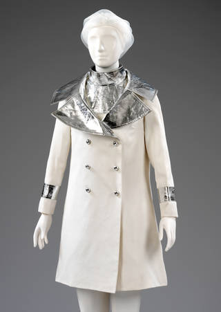 Photo of Wedding ensemble, Jean Varon, John Bates, 1966, UK. Museum no. T.261:1 to 2-2009. © Victoria and Albert Museum, London