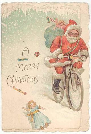 Christmas card, probably Ernest Nister, 1890 – 1900, England. Museum no. B.414-1993. © Victoria and Albert Museum, London