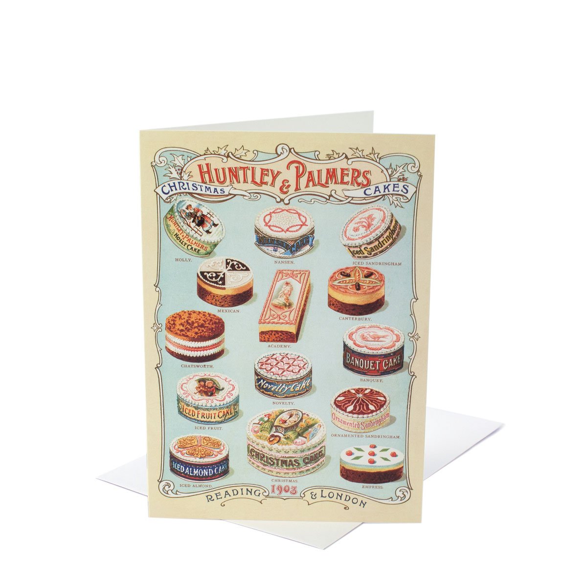 V&A Christmas Cards – Christmas Cakes (Pack of 10)