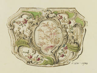 Design for a snuffbox, Jean Mondon, 1725 – 50, France. Museum no. E.231-1938. © Victoria and Albert Museum, London, purchased with the assistance of the Art Fund and Goldsmiths' Company