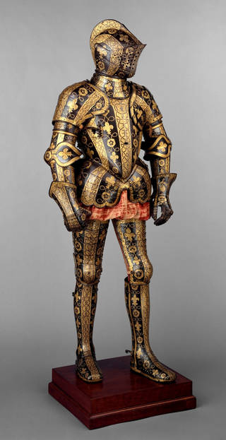 Armour for George Clifford, 3rd Earl of Cumberland, Greenwich, about 1587, picture courtesy of The Metropolitan Museum of Art, New York, 32.130.6