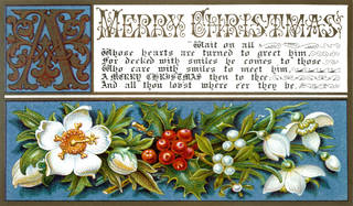Christmas card, published by C. Goodall & Son, 19th Century, England. Museum no. Buday/1/1/25. © Victoria and Albert Museum, London