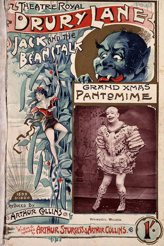 Cover of pantomime text for Jack & the Beanstalk at the Theatre Royal, Drury Lane, 1899 – 1900, England. © Victoria and Albert Museum, London