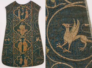 The Clare Chasuble (with detail showing griffin), 1272 – 1294, England. Museum no. 673-1864. © Victoria and Albert Museum, London