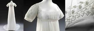 Wedding dress (details), about 1807, England. Museum no. T.12:1-2013. © Victoria & Albert Museum, London