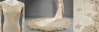 Wedding dress (details), Norman Hartnell, 1933, London, United Kingdom. Museum no. T.836-1974. © Victoria and Albert Museum, London