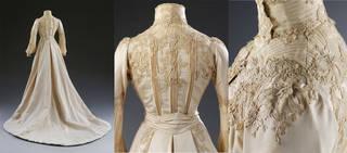 Wedding dress (details), Houghton & Dalton, 1902, London, England. Museum no. T.260-1990. © Victoria and Albert Museum, London