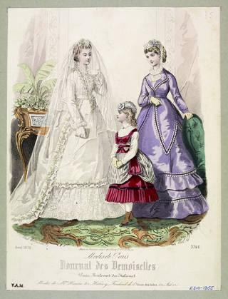 Fashion plate, Laure Noël & Paul Lacouriere, 1870, France. Museum no. E.310-1955. © Victoria and Albert Museum, London