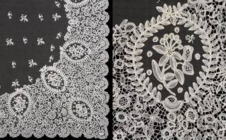 Wedding veil (details), mid-19th century. Museum no. T.43A-1947. © Victoria and Albert Museum, London