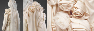 Wedding ensemble (details), John Galliano, 1987, UK. Museum no. T.41 to 41C-1988. © Victoria and Albert Museum, London