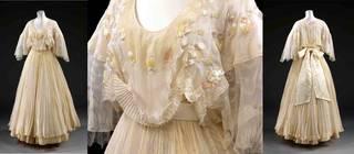 Wedding dress (details), Zandra Rhodes, 1976, UK. Museum no. T.9:1 to 9:3-2006. © Victoria and Albert Museum, London