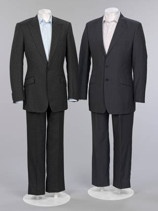 Men's wedding ensemble, Jasper Conran and Timothy Everest for Marks & Spencers, 2006, London.  Museum no. T.371:1 to 3–2009 & T.372:1 to 3–2009. © Victoria & Albert Museum, London