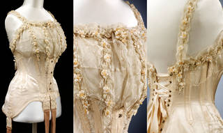 Wedding corset (details), 1905, Britain. Museum no. T.90-1928. © Victoria and Albert Museum, London