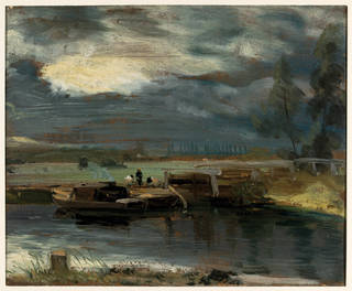 Barges on The Stour, oil painting, John Constable, about 1811, Britain. Museum no. 325-1888. © Victoria and Albert Museum, London
