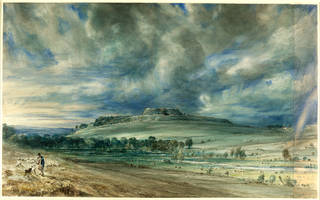 Photo of Old Sarum, John Constable, 1834, England. Museum no. 1628-1888. © Victoria and Albert Museum, London