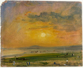 Photo of Shoreham Bay, Evening Sunset, John Constable, 1828, England. Museum no. 155-1888. © Victoria and Albert Museum, London