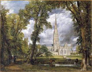 Photo of Salisbury Cathedral from the Bishop's Ground, John Constable, 1823, England. Museum no. FA.33[0]. © Victoria and Albert Museum, London