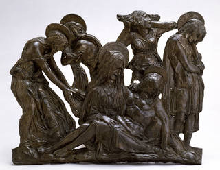 Photo of The Lamentation over the dead Christ, Donatello, bronze, about 1455 – 60, Italy. Museum no. 8552-1863. © Victoria and Albert Museum, London