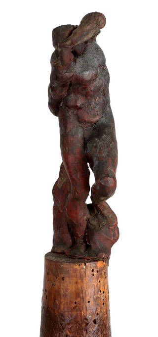 Photo of Figure of a Slave, model, Michelangelo, about 1516 – 19, Italy. Museum no. 4117-1854. © Victoria and Albert Museum, London