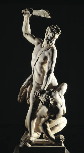 Photo of Samson Slaying the Philistine, sculpture, Giambologna, 1500 – 50, Italy. Museum no. A.7-1954. © Victoria and Albert Museum, London