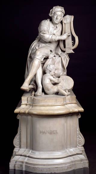 Photo of George Frederick Handel, sculpture, Louis Francois Roubiliac, 1738, Britain. Museum no. A.3-1965. © Victoria and Albert Museum, London