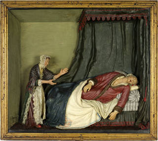 Photo of The Death of Voltaire, relief, Samuel Percy, late 18th century, England. Museum no. A.19-1932. © Victoria and Albert Museum, London