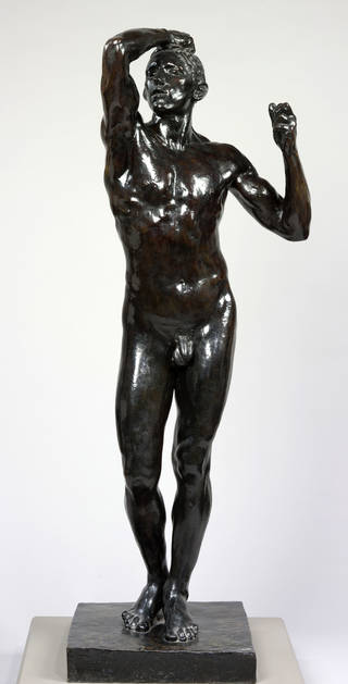 Photo of The Age of Bronze, statue, Auguste Rodin, about 1876, France. Museum no.A.33-1914. © Victoria and Albert Museum, London