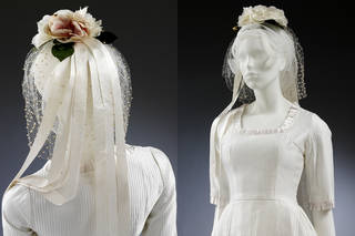 Wedding dress and headdress, designed by Wendy Ramshaw, 1962, UK. Museum no.  T.49:1, 2-2010. © Victoria and Albert Museum, London