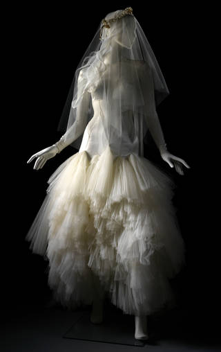 Wedding Dress and veil, Pam Hogg, 2012, UK. Museum no. T.5-2014. © Victoria and Albert Museum, London