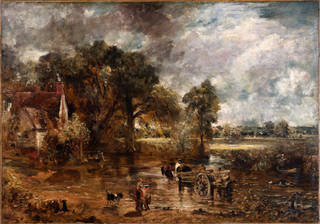 Full scale study for The Haywain, oil painting, John Constable, about 1821, England. Museum no. 987-1900. © Victoria and Albert Museum, London