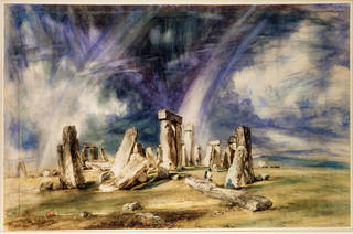 Stonehenge, Wiltshire, oil painting, John Constable, 1836, England. Museum no. 591-1888. © Victoria and Albert Museum, London