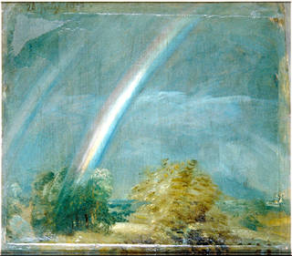 Landscape with a Double Rainbow, oil painting, John Constable, 1821, England. Museum no. 328-1888. © Victoria and Albert Museum, London