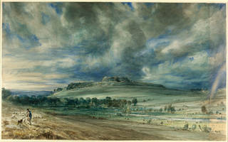 Old Sarum, watercolour, John Constable, 1834, England. Museum no. 1628-1888. © Victoria and Albert Museum, London