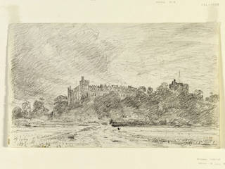 Arundel Castle, drawing, John Constable, 1834, England. Museum no. 277-1888. © Victoria and Albert Museum, London