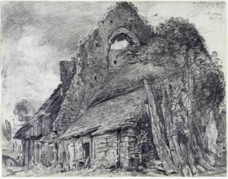 Ruins of The Maison Dieu, Arundel, drawing, John Constable, 1835, England. Museum no. 272-1888. © Victoria and Albert Museum, London