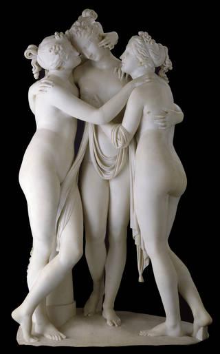 Photo of The Three Graces, sculpture, Antonio Canova, 1814 – 1817, Italy. Museum no. A.4-1994. © Victoria and Albert Museum, London