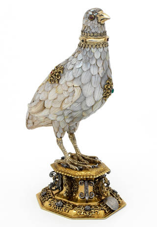 Photo of Partridge cup, 1598 – 1602, Nuremberg, Germany. Museum no. Loan:Gilbert.60:1, 2-2008. © The Rosalinde and Arthur Gilbert Collection on loan to the Victoria and Albert Museum