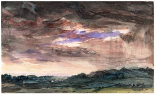 View Over a Hilly Country, With a Stormy Sky, watercolour, John Constable, about 1830, England. Museum no. 176-1888. © Victoria and Albert Museum, London
