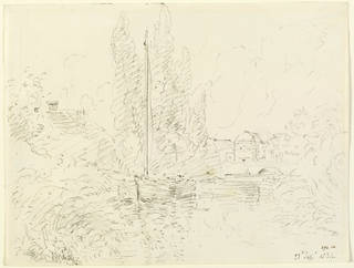Fittleworth Mill and Bridge, on the Rother, Sussex, drawing, John Constable, 1834, England. Museum no. 273-1888. © Victoria and Albert Museum, London