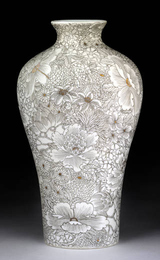 Photo of Neo-Guan, vase, Li Jianshen, 2012, China. Museum no. FE.86-2015. © Victoria and Albert Museum, London