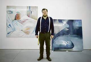 Constant Dullaart, installing 'Synthesising the preferred inputs', Future Gallery, Berlin. Photograph: Karolina Spolniewski