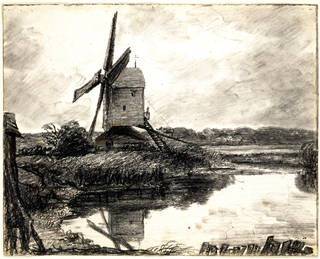 Photo of A Mill on the Banks of the River Stour, John Constable, 1802, England. Museum no. 841-1888. © Victoria and Albert Museum, London