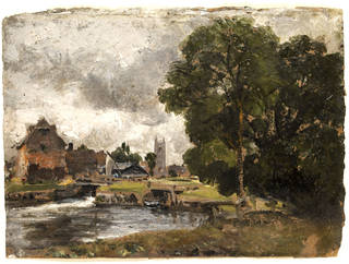 Dedham Lock and Mill, oil painting, John Constable, 1816, England. Museum no. 145-1888. © Victoria and Albert Museum, London